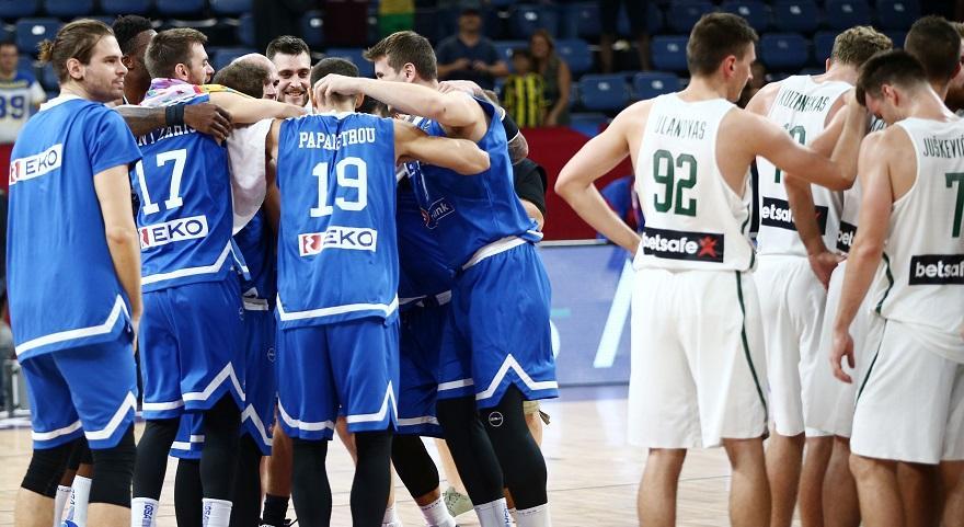 Αποτέλεσμα εικόνας για ελλαδα λιθουανια παπανικολαου eurobasket 2017