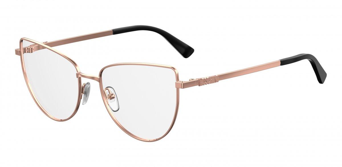97cd0e8f45 Γυαλιά οράσεως MOS 534. Η εμβληματική φόρμα «μάτι της γάτας» του Moschino  παρουσιάζεται σε μια νέα της εκδοχή