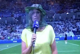 Μουντιάλ 2018: Γιγαντιαία κουνούπια ανάγκασαν Γερμανίδα δημοσιογράφο να βγει στον «αέρα» με κουνουπιέρα (ΦΩΤΟ) - Κυρίως Φωτογραφία - Gallery - Video