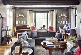 Γκρι: Το καινούργιο σικ χρώμα για το σαλόνι σας - 10 κομψότατες επιλογές για τον κύριο χώρο του σπιτιού σας (Φωτό) - Κυρίως Φωτογραφία - Gallery - Video