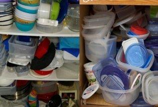 Μήπως τα ντουλάπια της κουζίνας σας βρίσκονται σε αυτό το χάλι; Δείτε 9 έξυπνα κόλπα για να τα έχετε πάντα συμμαζεμένα! - Κυρίως Φωτογραφία - Gallery - Video