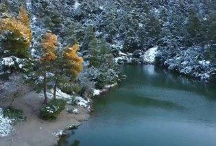 Βίντεο: Η Ιπποκράτειος Πολιτεία χιονισμένη & η λίμνη Μπελέτσι – Παραμυθένιο σκηνικό μόλις 30 χλμ από την Αθήνα - Κυρίως Φωτογραφία - Gallery - Video