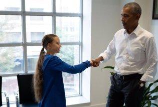'Εσύ και εγώ είμαστε ομάδα' - Το είπε ο Μπαράκ Ομπάμα στην 16χρονη Γκρέτα Τούνμπεργκ - Δείτε το βίντεο - Κυρίως Φωτογραφία - Gallery - Video