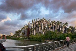 Αριστούργημα αρχιτεκτονικής στην Σαγκάη: «Έκτισαν» 1.000 δένδρα μέσα σε τεράστιο κτίριο & είναι υπέροχο - Φώτο  - Κυρίως Φωτογραφία - Gallery - Video