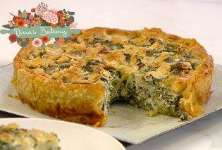 Ντίνα Νικολάου: Απολαύστε αυτή την ανοιχτή χορτόπιτα με φρέσκο τυρί κρέμα & φέτα  - Κυρίως Φωτογραφία - Gallery - Video