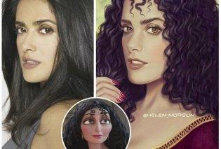 Καλλιτέχνιδα μεταμορφώνει celebrities σε χαρακτήρες της Disney: Απίστευτη ομοιότητα & φαντασία - Φώτο - Κυρίως Φωτογραφία - Gallery - Video