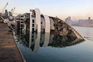 Λίβανος - έκρηξη - βίντεο: Ολόκληρο κρουαζιερόπλοιο βυθίστηκε στο λιμάνι της Βηρυτού - Το Orient Queen ερχόταν τακτικά στον Πειραιά (βίντεο) - Κυρίως Φωτογραφία - Gallery - Video