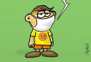 Το συγκινητικό σκίτσο του Αρκά για την χρήση μάσκας: «Θέλω τη γιαγιά μου ζωντανή...» - Κυρίως Φωτογραφία - Gallery - Video