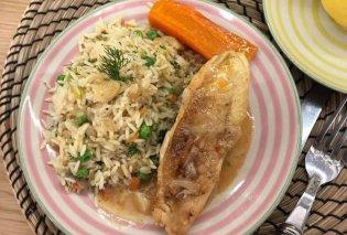Υπέροχη μαμαδίστικη συνταγή από την Αργυρώ Μπαρμπαρίγου - Λεμονάτο κοτόπουλο στην κατσαρόλα με ρύζι - Κυρίως Φωτογραφία - Gallery - Video