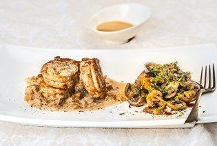 Πεντανόστιμο ψαρονέφρι με ζεστή σαλάτα Portobello & σάλτσα κρέμας από την Αργυρώ Μπαρμπαρίγου  - Κυρίως Φωτογραφία - Gallery - Video