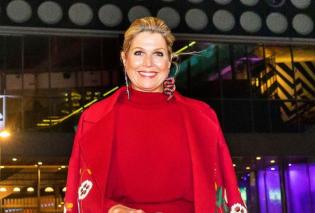 H Bασίλισσα Μάξιμα της Ολλανδίας στην πιο chic & rock εμφάνιση του χειμώνα - Μπορντό δερμάτινη φούστα , μεταξωτό πουκάμισο, απίθανες γόβες & τσάντα φάκελο (φωτό) - Κυρίως Φωτογραφία - Gallery - Video
