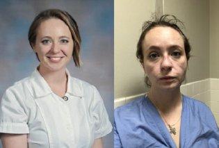 """Πριν & μετά: Συγκινεί η εικόνα μιας 27χρονης νοσοκόμας έπειτα από 8 μήνες στη """"μάχη"""" με τον κορωνοϊό- Κουρασμένη, γερασμένη, ταλαιπωρημένη (φωτό- βίντεο) - Κυρίως Φωτογραφία - Gallery - Video"""