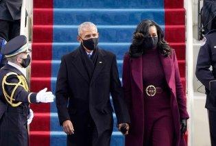 Ορκωμοσία Τζο Μπάιντεν: Το μωβ της Χίλαρι Κλίντον & το βυσσινί παλτό της Μισέλ Ομπάμα (φωτο) - Κυρίως Φωτογραφία - Gallery - Video