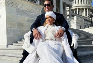 Τα καυτά φιλιά & οι αγκαλιές της Τζένιφερ Λόπεζ με τον αρραβωνιαστικό της στην ορκωμοσία του Μπάιντεν - Το λευκό chanel outfit  (φώτο-βίντεο)  - Κυρίως Φωτογραφία - Gallery - Video
