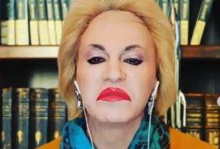 Ξεκαρδιστικός ο Τάκης Ζαχαράτος! Έγινε Ματίνα Παγώνη: Καταλαβαίνω ότι συγκαήκατε από την καναπεδίλα αλλά… Απόκριες δεν κάνουμε (βίντεο) - Κυρίως Φωτογραφία - Gallery - Video