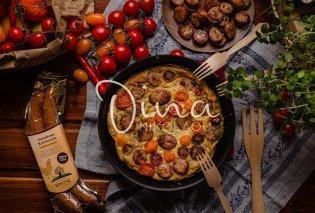 Φρουτάλια με λουκάνικο κοτόπουλου και ντοματίνια: Ένα πλούσιο και χορταστικό πιάτο από την Ντίνα Νικολάου - Κυρίως Φωτογραφία - Gallery - Video