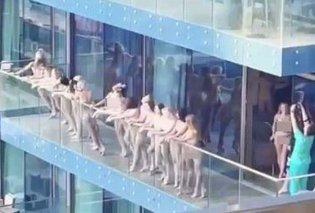 Γυναίκες βγήκαν γυμνές σε μπαλκόνι ουρανοξύστη στο Ντουμπάι και προκάλεσαν σάλο: Οι εικόνες & το βίντεο που κάνουν τον γύρο του κόσμου - Κυρίως Φωτογραφία - Gallery - Video