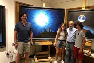 Αποκλειστικά στο eirinika: Ένας από τους μεγαλύτερους παραγωγούς του Broadway στο studio του Άγγελου - Ο Nick Scandalios συνάντησε τον σπουδαίο ζωγράφο (φώτο) - Κυρίως Φωτογραφία - Gallery - Video