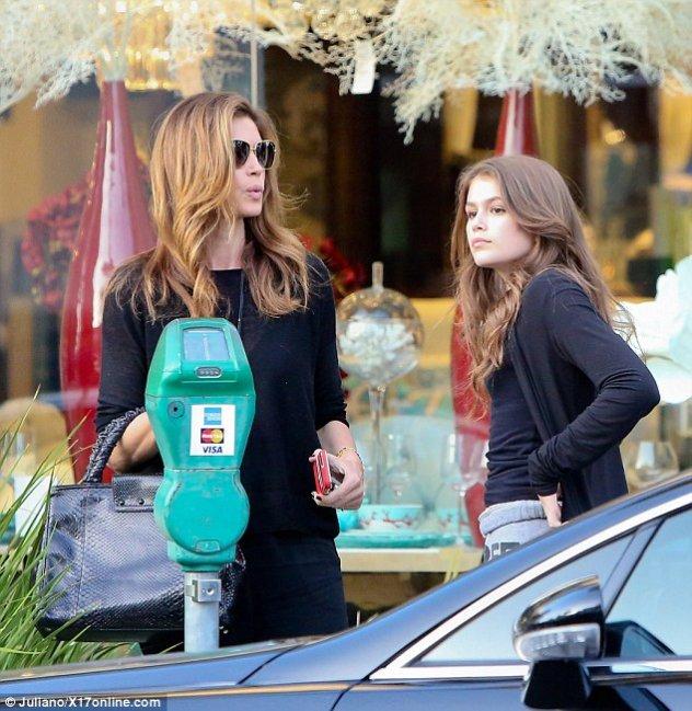 Η ομοιότητα μαμάς και κόρης είναι εκπληκτική μιας και η νεαρή Kaia είναι  κυριολεκτικά το mini-me της διάσημης μαμάς της. Η πανέμορφη Κρόφορντ  πραγματοποίηση ... b18cdac24f5