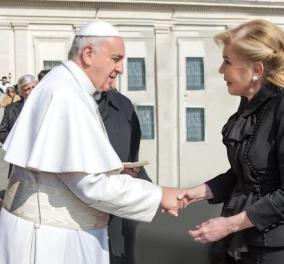 Εύσημα και από τον Πάπα στη Μαριάννα Βαρδινογιάννη για το φιλανθρωπικό της έργο (φωτό) - Κυρίως Φωτογραφία - Gallery - Video
