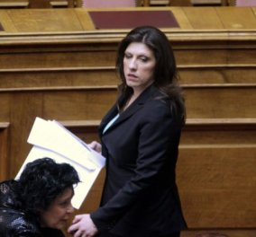 Νέα πρόεδρος της Βουλής dress code: Άψογο μακιγιάζ, «ασφαλές» μαύρο ταγέρ με σέξυ υποψία στο γαλάζιο τιραντάκι! (φωτό) - Κυρίως Φωτογραφία - Gallery - Video
