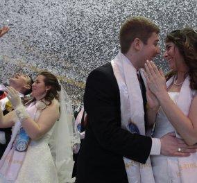 3.800 ζευγάρια ενώθηκαν με τα «ιερά δεσμά» του γάμου ταυτόχρονα στη Ν. Κορέα! Δείτε τις φωτό από το... υπερ-μυστήριο! (slideshow) - Κυρίως Φωτογραφία - Gallery - Video