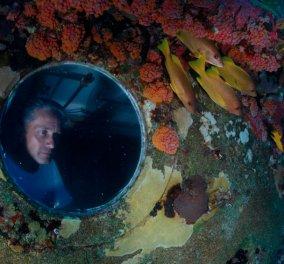 Story: Fabien Cousteau, o άνθρωπος που έζησε 31 μέρες κάτω από το νερό για χάρη της επιστήμης - Θαυμάστε τον! - Κυρίως Φωτογραφία - Gallery - Video