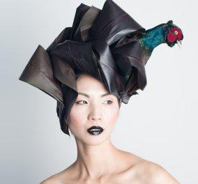 """Προκλητικά ή αποκρουστικά; Έργα τέχνης ή καλλιτεχνικές ακρότητες; Αυτά τα """"καπέλα"""" από ψόφια πτηνά & αληθινά φρούτα θα σας συναρπάσουν ! (φωτό-βίντεο) - Κυρίως Φωτογραφία - Gallery - Video"""