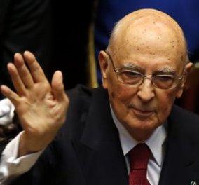 Παραιτήθηκε ο πρόεδρος της Ιταλίας Τζόρτζιο Ναπολιτάνο! - Κυρίως Φωτογραφία - Gallery - Video