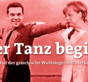 To πρωτοσέλιδο με το συρτάκι αλά... Ζορμπά για Α. Τσίπρα και Α. Μέρκελ της Der Freitag κάνει τον γύρο του κόσμου! (φωτό)  - Κυρίως Φωτογραφία - Gallery - Video