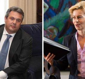 Η διπλωματική αντιπαράθεση του Π. Καμμένου με τη Γερμανίδα υπουργό Άμυνας - ''Η Ελλάδα ήταν στο πλευρό των συμμάχων στο Β' Παγκόσμιο'' - Κυρίως Φωτογραφία - Gallery - Video