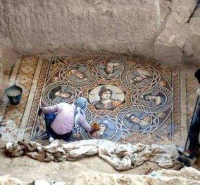 Τουρκία: Ψηφιδωτά σπάνιας ομορφιάς ανακαλύφθηκαν στην αρχαία ελληνική πόλη Ζεύγμα, που ίδρυσε ο διάδοχος του Μ. Αλεξάνδρου, Σέλευκος! (φωτό & βίντεο) - Κυρίως Φωτογραφία - Gallery - Video