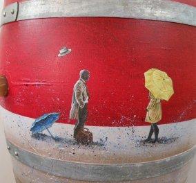 33 δρύινα βαρέλια έγιναν έργα τέχνης - Η σύνδεση της εικαστικής τέχνης με την αγάπη για το κρασί έχει απίστευτα αποτελέσματα! - Κυρίως Φωτογραφία - Gallery - Video