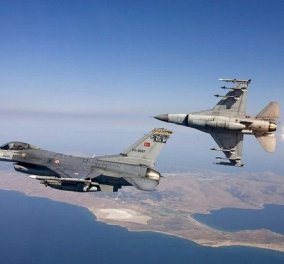 Νέα τουρκική πρόκληση στο Αιγαίο - Έξι F-16 πέταξαν πάνω από τους Ανθρωποφάγους - Κυρίως Φωτογραφία - Gallery - Video