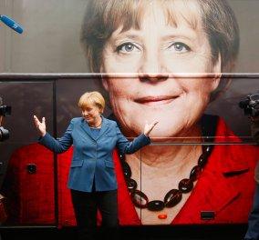 Α. Μέρκελ: ''Όλοι δουλεύουμε για να μπορεί η Ελλάδα να παραμείνει στην Ευρωζώνη'' - Κυρίως Φωτογραφία - Gallery - Video