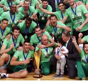 Κυπελλούχος στο μπάσκετ ο Παναθηναϊκός - Το 16ο Κύπελλο Ελλάδος στην ιστορία του σήκωσε το τριφύλλι επικρατώντας με 68-53 τον Απ. Πατρών! - Κυρίως Φωτογραφία - Gallery - Video