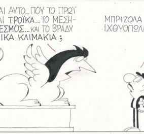 Η γελοιογραφία του ΚΥΡ - Τι είναι που λέγεται Τρόικα το πρωί, μετά θεσμός και το βράδυ τεχνικά κλιμάκια; - Κυρίως Φωτογραφία - Gallery - Video