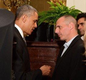 Βαρουφάκης - Ομπάμα: Τα 12 λεπτά της δημόσιας συζήτησης τους - Στο Λευκό Οίκο χωρίς γραβάτα! - Κυρίως Φωτογραφία - Gallery - Video