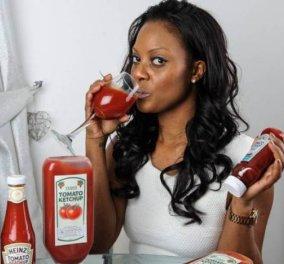 Σαμάνθα Άρτσερ, η γυναίκα που είναι εθισμένη στην κέτσαπ - καταναλώνει περίπου 36 λίτρα κέτσαπ κάθε χρόνο! - Κυρίως Φωτογραφία - Gallery - Video