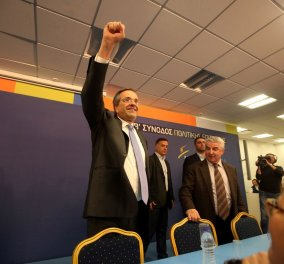 A. Σαμαράς: ''Το προβάδισμα του ΣΥΡΙΖΑ έχει μειωθεί στο όριο του στατιστικού λάθους και σύντομα θα ανατραπεί'' - Κυρίως Φωτογραφία - Gallery - Video