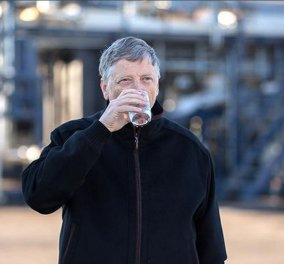 Ο Μπιλ Γκέιτς πίνει ένα ποτήρι νερό που πριν 5 λεπτά ήταν ανθρώπινo περίττωμα - Η απίστευτη εφεύρεση Janicki Omniprocessor  - Κυρίως Φωτογραφία - Gallery - Video