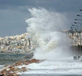 Θυελλώδεις άνεμοι και βροχές στο μεγαλύτερο μέρος της χώρας - Δεμένα τα πλοία στα λιμάνια! (βίντεο) - Κυρίως Φωτογραφία - Gallery - Video