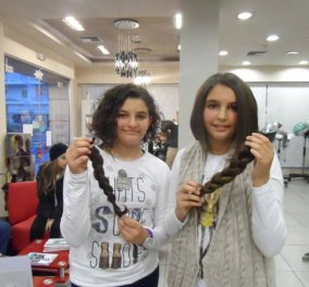 Παγκόσμια ημέρα κατα του παιδικού καρκίνου και γνωρίστε τις Καλαματιανές αδερφούλες που έκοψαν & χάρισαν τα μαλλιά τους... - Κυρίως Φωτογραφία - Gallery - Video