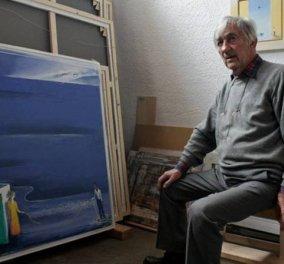 Δημοσθένης Κοκκινίδης: Ποιος είναι ο ζωγράφος που αγάπησε ο Αλέξης Τσιπρας - λατρεύει την Οδύσσεια, τα έντονα μπλε, κόκκινο & κίτρινα!  - Κυρίως Φωτογραφία - Gallery - Video