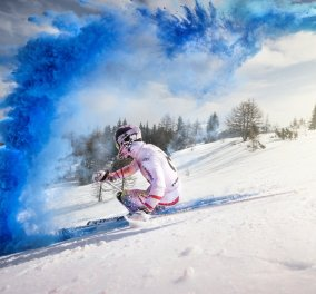 Το βίντεο της ημέρας: Ο Marcel Hirscher κάνει σκι στο χιόνι με… χρώμα πανηγυρίζοντας την νίκη του στο Παγκόσμιο κύπελλο! - Κυρίως Φωτογραφία - Gallery - Video