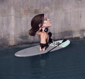 """Τις πνίγει ή όχι τις γυναίκες; Δείτε την """"υγρή"""" εμμονή του να τις ζωγραφίζει & να τις ρίχνει στο νερό  - Κυρίως Φωτογραφία - Gallery - Video"""