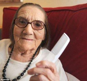 Top Woman η 104χρονη Αγγλίδα Freda Taylor, που δεν έχει χρειαστεί να βάψει ποτέ τα καστανά μαλλιά της & μας αποκαλύπτει το μυστικό! - Κυρίως Φωτογραφία - Gallery - Video
