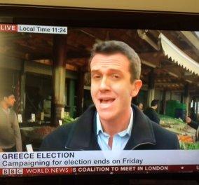 Ο δημοσιογράφος του BBC, Marc Lowen στη Βαρβάκειο, συνάντησε έναν συνταξιούχο της Εθνικής Τράπεζας που ψηφίζει ΣΥΡΙΖΑ - Δείτε τι του είπε! - Κυρίως Φωτογραφία - Gallery - Video