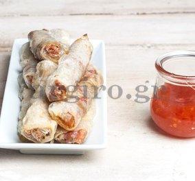 Ανοιξιάτικα τραγανά ρολά με σάλτσα γλυκιάς πιπεριάς για νηστεία με άρωμα... ανατολής της κυρίας της κουζίνας, Αργυρώς Μπαρμπαρίγου! - Κυρίως Φωτογραφία - Gallery - Video