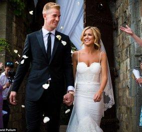 Ο 28χρονoς διάσημος ποδοσφαιριστής παντρεύτηκε την 32xρoνη αισθητικό σε ρομαντική ατμόσφαιρα   - Κυρίως Φωτογραφία - Gallery - Video